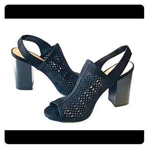 Madden Girl Black sling back booties, size 7